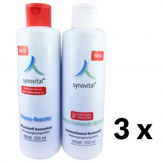 3 x Synovital Fitness-Booster + Trace Elements-Booster